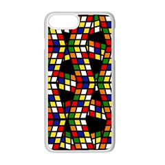 Graphic Pattern Rubiks Cube Cube Apple Iphone 8 Plus Seamless Case (white)