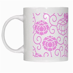 Peony Asia Spring Flowers Natural White Mugs