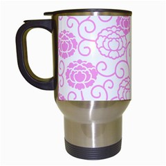 Peony Asia Spring Flowers Natural Travel Mugs (white)