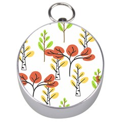 Tree Autumn Forest Landscape Silver Compasses