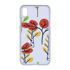Tree Autumn Forest Landscape Apple Iphone Xr Seamless Case (white)