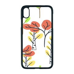 Tree Autumn Forest Landscape Apple Iphone Xr Seamless Case (black)