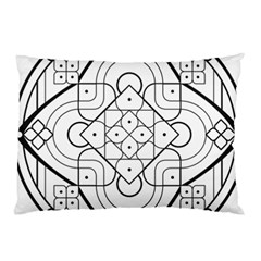 Mandala Drawing Dyes Page Pillow Case