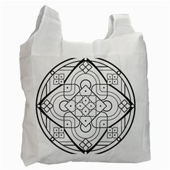 Mandala Drawing Dyes Page Recycle Bag (two Side)