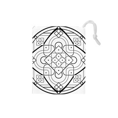 Mandala Drawing Dyes Page Drawstring Pouch (small)