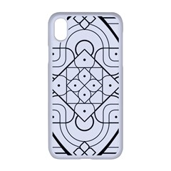 Mandala Drawing Dyes Page Apple Iphone Xr Seamless Case (white)