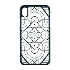 Mandala Drawing Dyes Page Apple Iphone Xr Seamless Case (black)