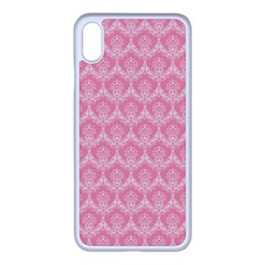 Damask Floral Design Seamless Apple Iphone Xs Max Seamless Case (white)