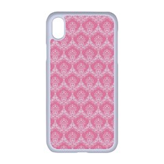 Damask Floral Design Seamless Apple Iphone Xr Seamless Case (white)