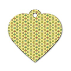 A Hexagonal Pattern Dog Tag Heart (two Sides)
