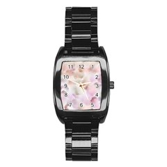 Abstract Watercolor Seamless Stainless Steel Barrel Watch