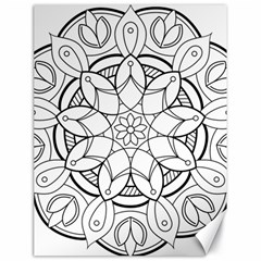Mandala Drawing Dyes Page Canvas 18  X 24