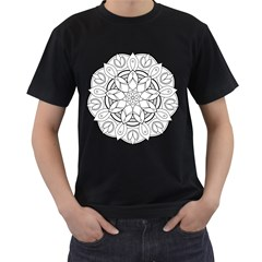 Mandala Drawing Dyes Page Men s T Shirt (black)