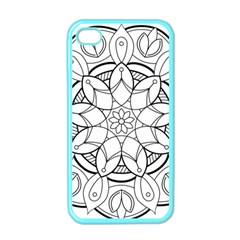 Mandala Drawing Dyes Page Apple Iphone 4 Case (color)