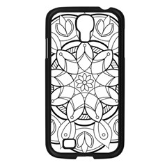 Mandala Drawing Dyes Page Samsung Galaxy S4 I9500/ I9505 Case (black)