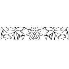 Mandala Drawing Dyes Page Large Flano Scarf
