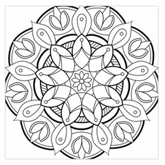Mandala Drawing Dyes Page Large Satin Scarf (square)