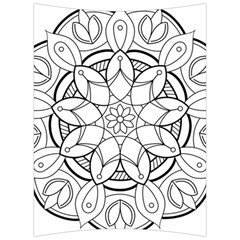 Mandala Drawing Dyes Page Back Support Cushion