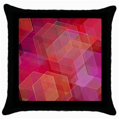 Abstract Background Texture Throw Pillow Case (black)