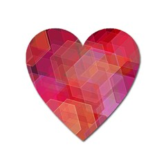 Abstract Background Texture Heart Magnet by Pakrebo