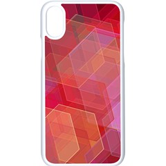 Abstract Background Texture Apple Iphone X Seamless Case (white)