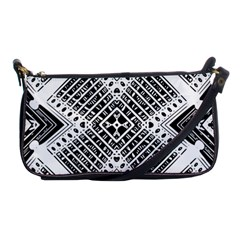 Pattern Tile Repeating Geometric Shoulder Clutch Bag