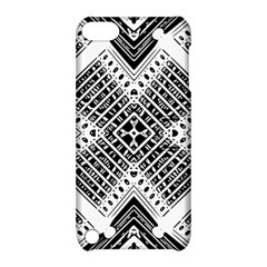Pattern Tile Repeating Geometric Apple Ipod Touch 5 Hardshell Case With Stand by Pakrebo