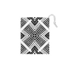 Pattern Tile Repeating Geometric Drawstring Pouch (xs)