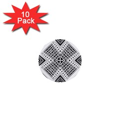 Pattern Tile Repeating Geometric 1  Mini Buttons (10 Pack)