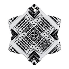 Pattern Tile Repeating Geometric Snowflake Ornament (two Sides)