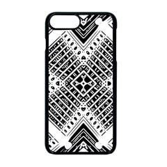 Pattern Tile Repeating Geometric Apple Iphone 8 Plus Seamless Case (black)