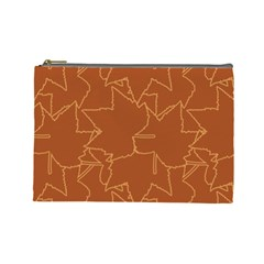 Autumn Leaves Repeat Pattern Cosmetic Bag (large)