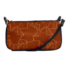 Autumn Leaves Repeat Pattern Shoulder Clutch Bag by Pakrebo