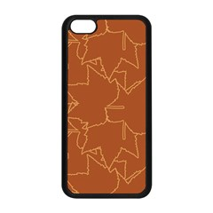 Autumn Leaves Repeat Pattern Apple Iphone 5c Seamless Case (black)