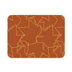 Autumn Leaves Repeat Pattern Double Sided Flano Blanket (mini)