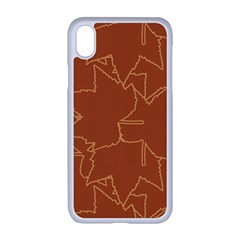 Autumn Leaves Repeat Pattern Apple Iphone Xr Seamless Case (white)