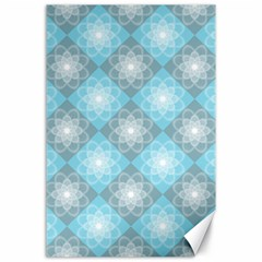 White Light Blue Gray Tile Canvas 24  X 36