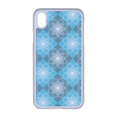 White Light Blue Gray Tile Apple Iphone Xr Seamless Case (white)