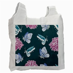 Butterfly Pattern Dead Death Rose Recycle Bag (two Side)