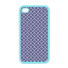 Wreath Differences Indigo Deep Blue Apple Iphone 4 Case (color)