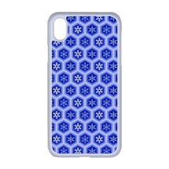 A Hexagonal Pattern Apple Iphone Xr Seamless Case (white)