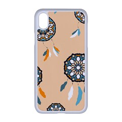 Dreamcatcher Pattern Pen Background Apple Iphone Xr Seamless Case (white)