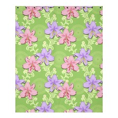 Lily Flowers Green Plant Natural Shower Curtain 60  X 72  (medium)