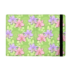 Lily Flowers Green Plant Natural Apple Ipad Mini Flip Case