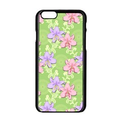 Lily Flowers Green Plant Natural Apple Iphone 6/6s Black Enamel Case by Pakrebo
