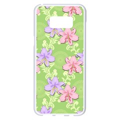 Lily Flowers Green Plant Natural Samsung Galaxy S8 Plus White Seamless Case