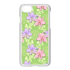 Lily Flowers Green Plant Natural Apple Iphone 8 Seamless Case (white)