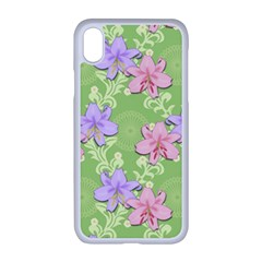Lily Flowers Green Plant Natural Apple Iphone Xr Seamless Case (white)