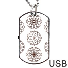 Graphics Geometry Abstract Dog Tag Usb Flash (two Sides)