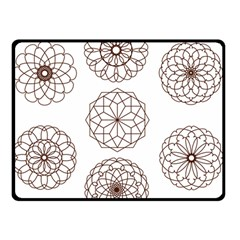Graphics Geometry Abstract Double Sided Fleece Blanket (small)